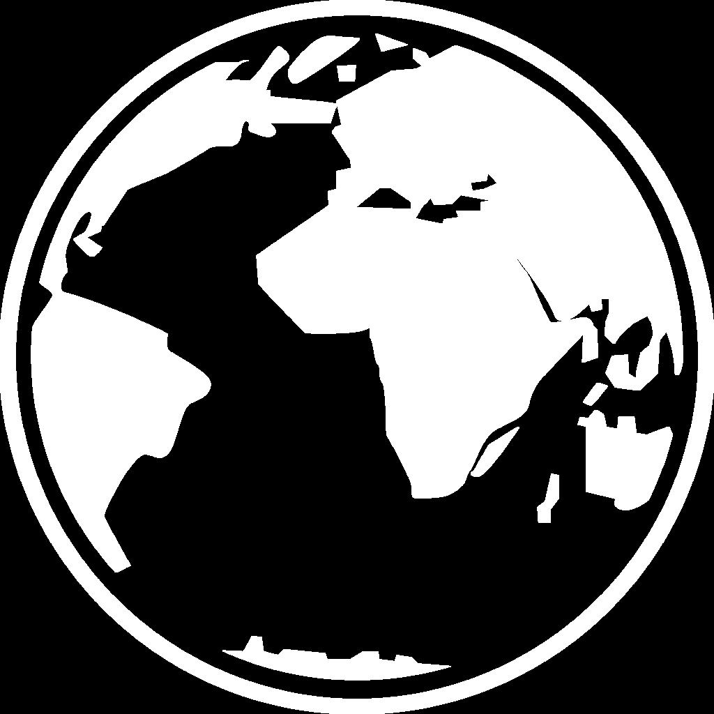 white globe icon