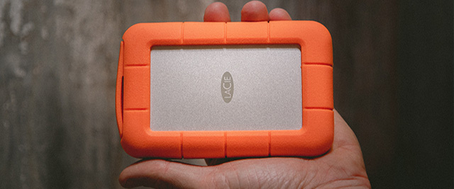 orange portable hard drive