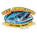 reel addiction sport fishing charters logo