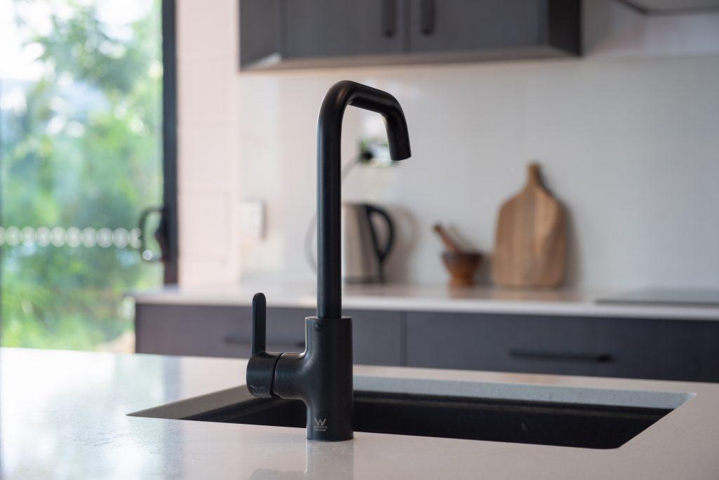 black tap in kitchen